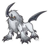 Absol by keybladebanditjing