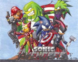 Sonic Avengers by Digi-Ink-by-Marquis