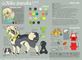 Aiko Fursona Reference by foxicle