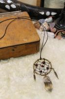 Warrior's Beads dream catcher necklace project by Ruscraft