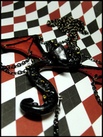 Black Dragon Necklace II by GrandmaThunderpants