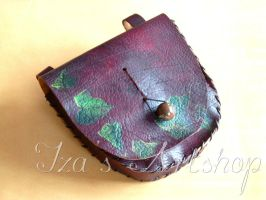 Magical Ivy Leather Belt Bag by izasartshop