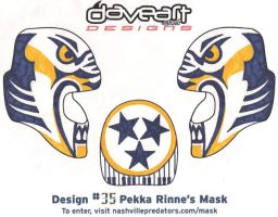 Pikka Rinne Mask Desing by Guerrilla97
