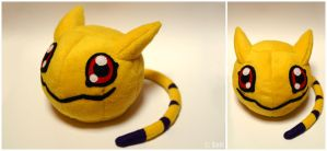 Nyaromon plushie by Sefi