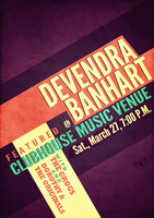 Devendra Gig Poster by AYSAMO