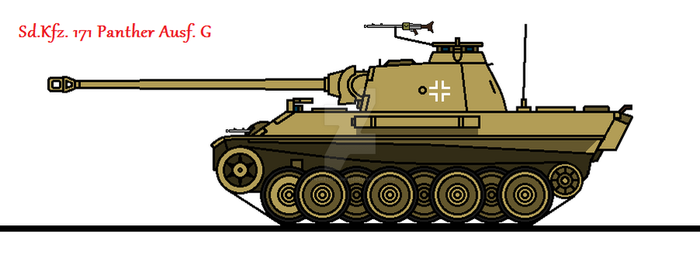 Sd.Kfz. 171 Panther Ausf. G by thesketchydude13