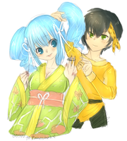 rann and ryoga by onisuu