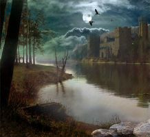 Photomanipulation lake scenery by drMarin