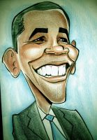 Barack Obama Caricature by heckthor