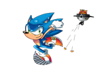 Sonic's 20th without logo by xRubiMalonex