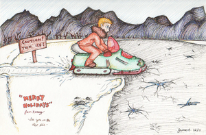 Fearless Snowmobiler Kenny McCormick by James-Everette