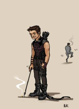 (it's not) hawkeye by queenkong13