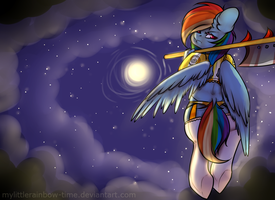 Rainbow Dash in the sky by mylittleRainbow-Time