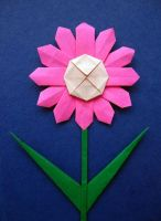 Origami Flower (Pink) by BlueTF
