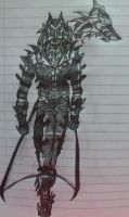 Wolf Inhumanoid by HellAcolyte