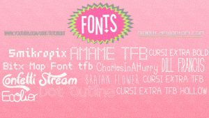 Pack de fonts by Nia Kiut by Niakiut