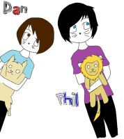 Dan and Phil Colouring by beckyissocoollike