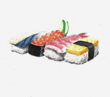 Sushi by snow-art