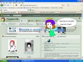 thank for the 1000 pageviews by Tenshika1998