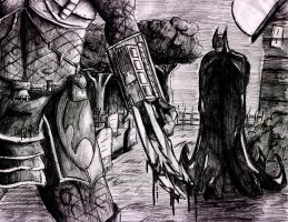 Batman vs Predator by Eskimo-Evan