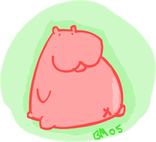 hippo by sludge-the-pigeon