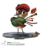 Daily Painting 1664# - Sand Piper by Cryptid-Creations