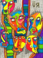 faces sown by adedos