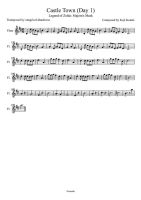 Castle Town Day 1 Sheet Music of Flute by drakon-thedragon