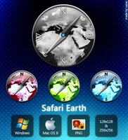 Safari Earth Icons by xazac87