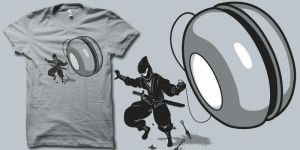 ninja used yo-yos t shirt by biotwist
