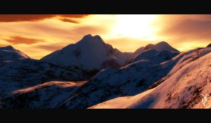 Sunset Mountains by convoluted