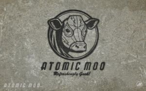 Atomic Moo Stencil Wallpaper by AtomicMoo