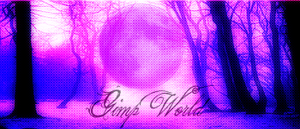 Violet moon for the Gimp World by OperaMorgana
