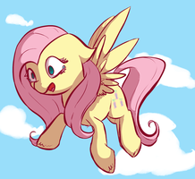 Flying is scary by MoonShardDragon