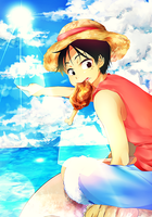 Luffy by temiji