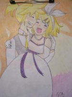 kagamine bride by BoudreauX24