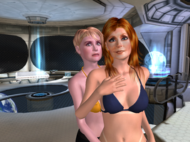 Star Trek TNG Babes dr Crusher and Tasja by Harunsilver