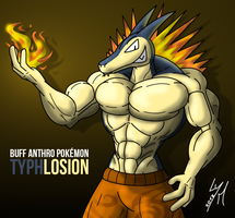 [Request] Buff Anthro Typhlosion by McTaylis