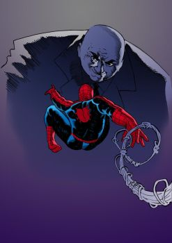 Spider-man against the Kingpin of Crime by EliasNeo