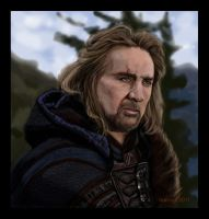 Portrait of Nicolas Cage by turkill