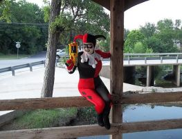 Bridge Mayhem with Harley by ClownGirlHarley