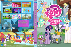 My Little Pony Season 3 Unofficial DVD Cover by DaMagics