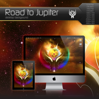 Road to Jupiter Desktop Background by Bonvallet