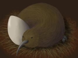 Kiwi Bird by ImaginaryGoddess