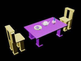 3D Dining Table by pete7868