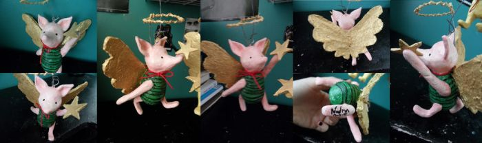Winnie the Pooh classic piglet christmas sculpt by Navrin