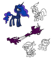 Luna Eclipsed Doodles by WillDrawForFood1