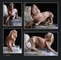 Ceramic sphinx by Reptangle