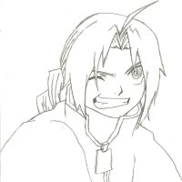 Edward Elric Sketch by Snowprincess-Lily