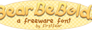 Font - BearBeBold by firstfear